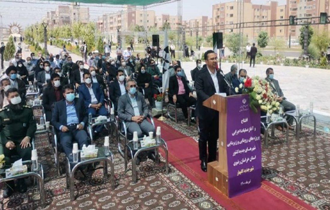 پروژههای زیربنایی و مسکونی در گلبهار به بهرهبرداری رسید